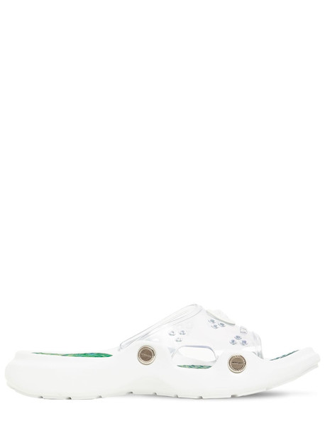 VERSACE 30mm Rubber Slide Sandals in transparent
