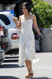 dress,midi dress,vanessa hudgens,celebrity,summer dress