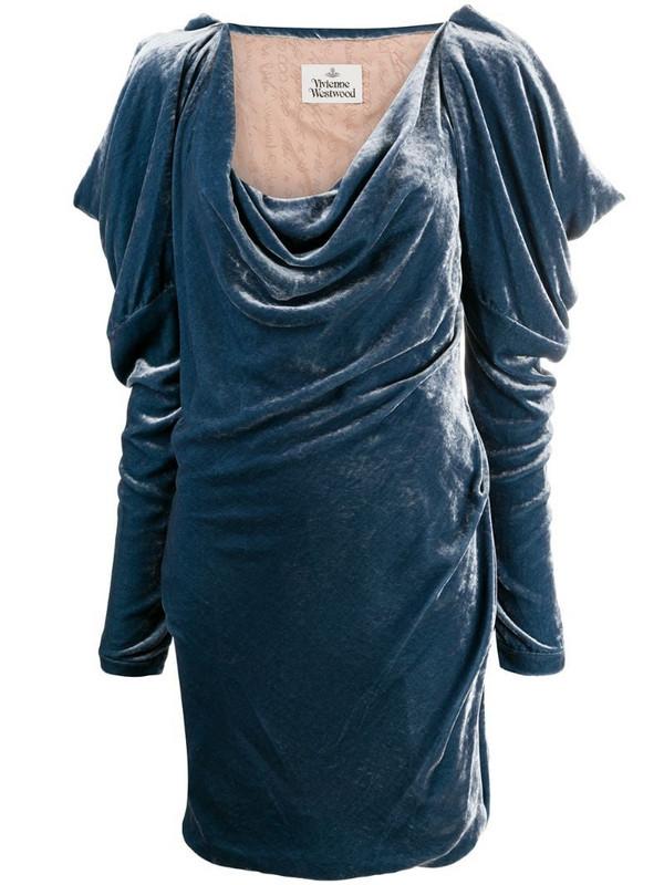 Vivienne Westwood slouchy long-sleeved mini dress in blue