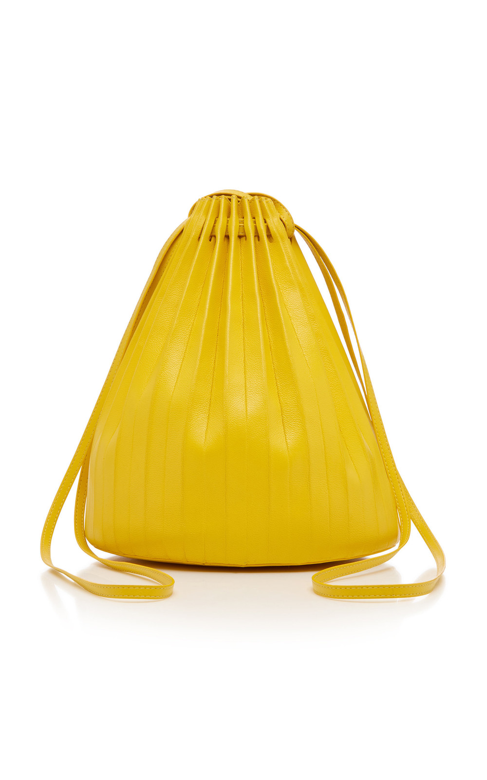 Mansur Gavriel Pleated Leather Bag in yellow