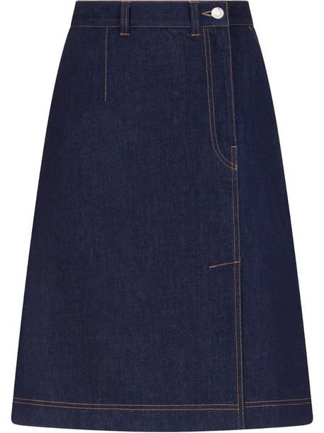 Dolce & Gabbana A-line denim skirt in blue