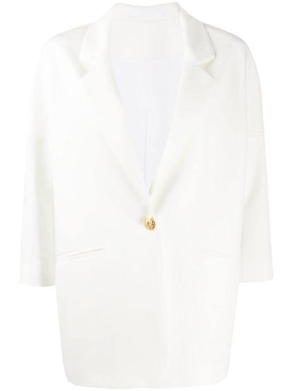 Tagliatore Bruna oversized fit blazer in white