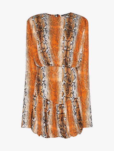 ROTATE Alina python print mini dress