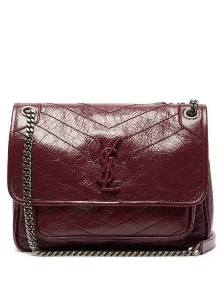 Saint Laurent - Niki Medium Leather Shoulder Bag - Womens - Burgundy