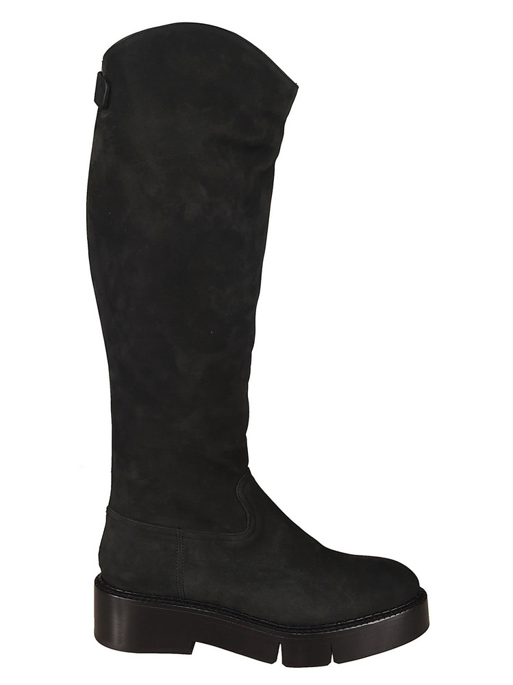 Robert Clergerie Nubuck Over-the-knee Boots in black