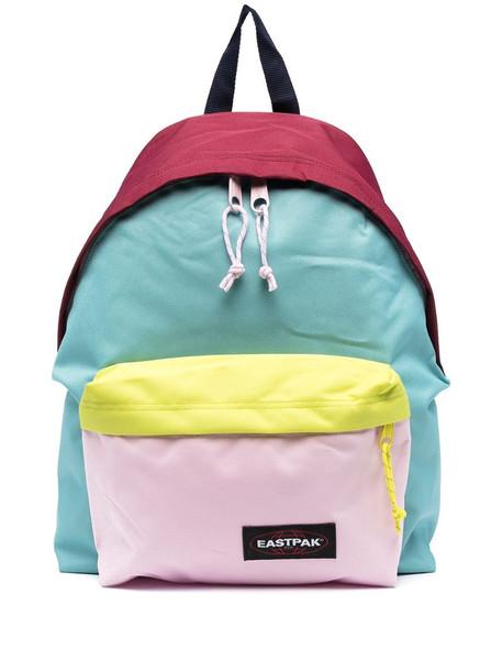 Eastpak colour-block zip-up backpack in blue