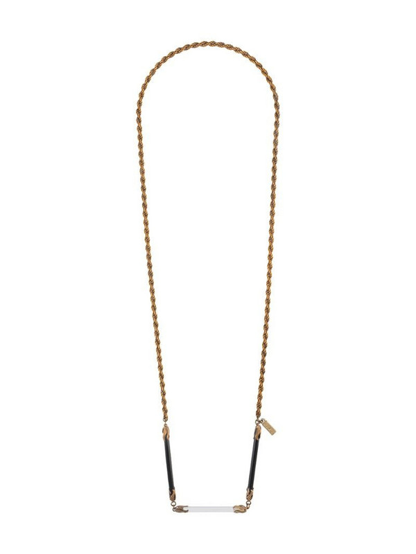 A.N.G.E.L.O. Vintage Cult 1980s rope chain necklace in metallic