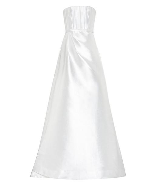 Alex Perry Georgia silk bridal gown in white