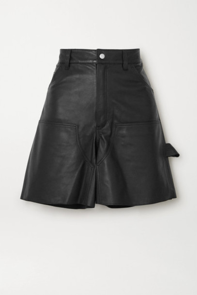 Unravel Project - Leather Shorts - Black