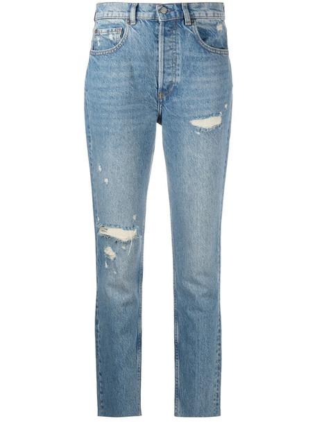 BOYISH DENIM Billy high-rise skinny jeans in blue