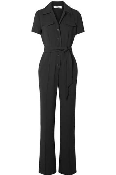 Diane von Furstenberg - Daisy Crepe Jumpsuit - Black