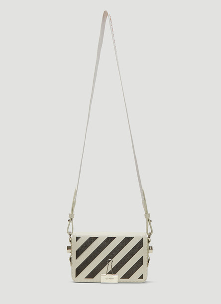 Off-White Diagonal Mini Binder Shoulder Bag in White size One Size