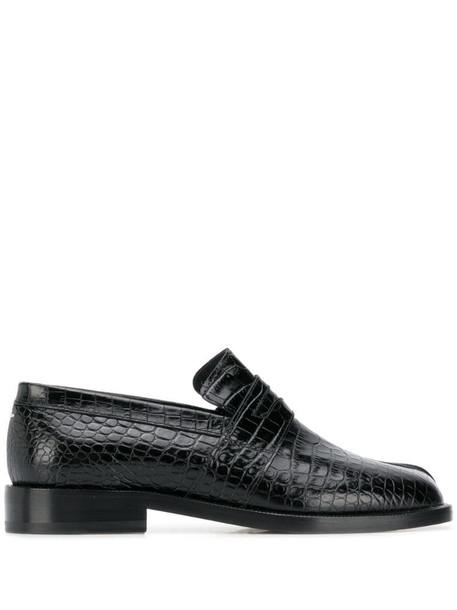 Maison Margiela crocodile-effect 25mm Tabi loafers in black