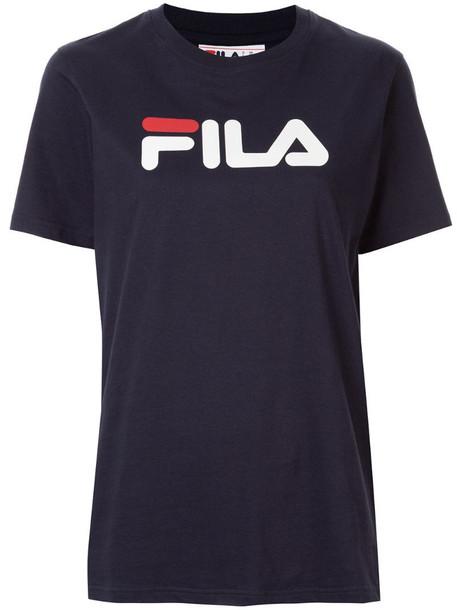 Fila printed logo T-shirt in blue