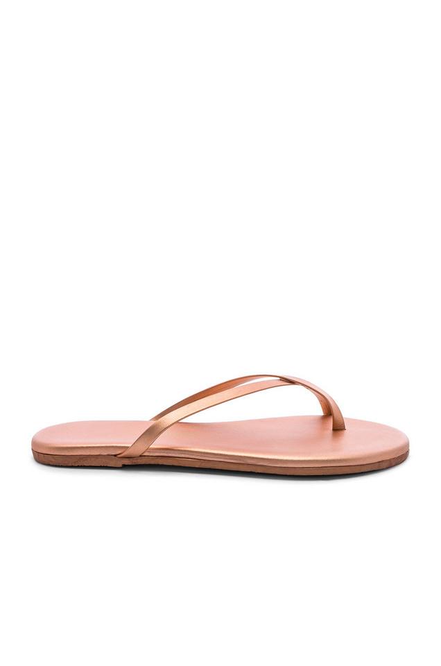 TKEES Riley Sandal in metallic / copper