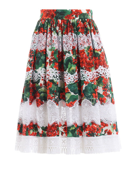Dolce & Gabbana Printed Gerani Skirt