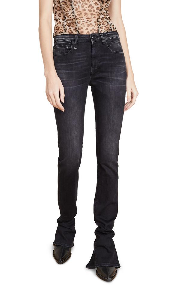 R13 Alison Slim Jeans in black