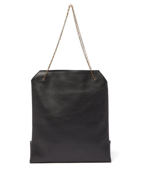 The Row - Lunch Bag Leather Clutch - Womens - Black