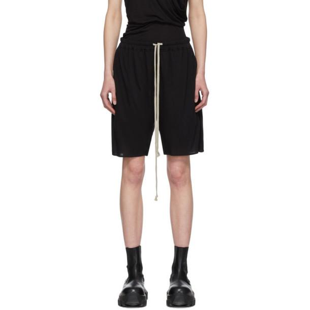 Rick Owens Lilies Black Heavy Jersey Shorts