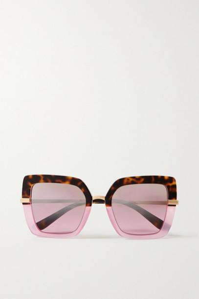 Dolce & Gabbana - Square-frame Acetate And Gold-tone Sunglasses - Tortoiseshell