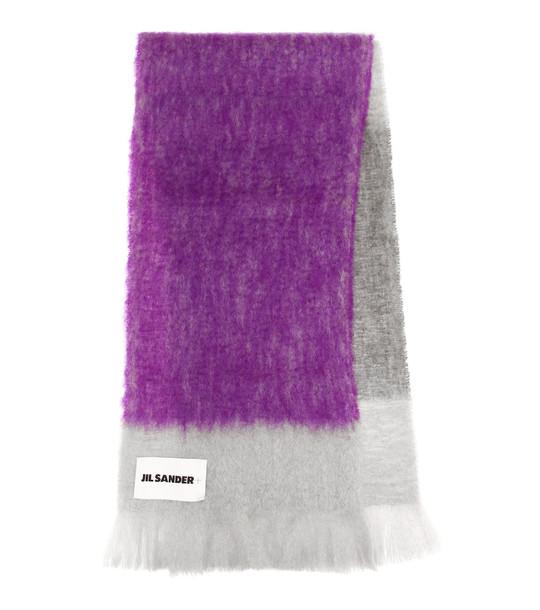 Jil Sander Mohair and wool scarf in purple