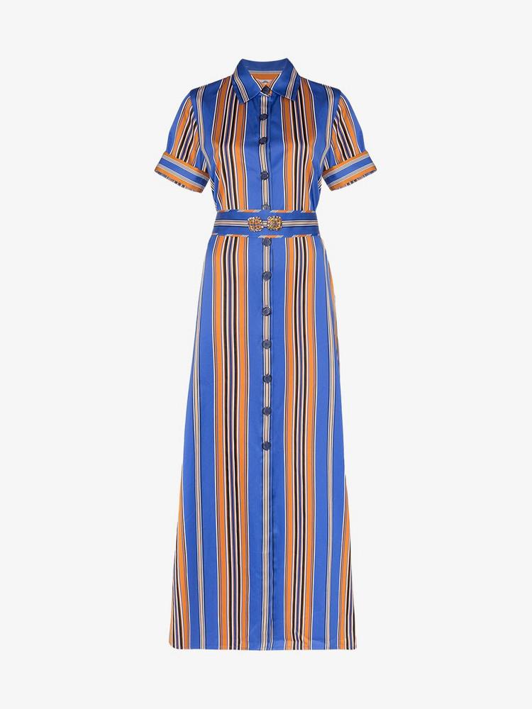 Evi Grintela Badi striped shirt dress in blue