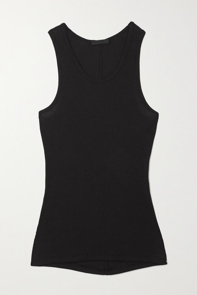 WARDROBE.NYC WARDROBE. NYC - Ribbed Cotton-jersey Tank - Black