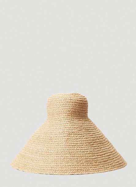 Jacquemus Le Valensole Beach Hat in Beige size One Size