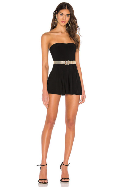 Norma Kamali Strapless Flared Swim Dress in black