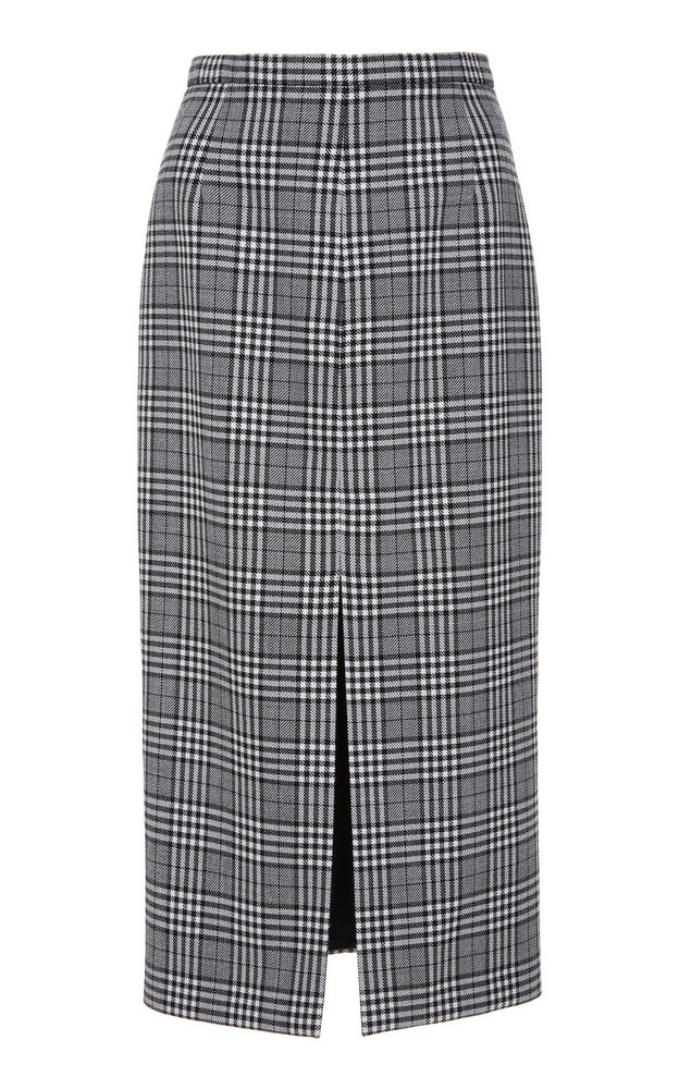 Michael Kors Collection Prince Of Wales Checked Wool Midi Skirt Size: in multi