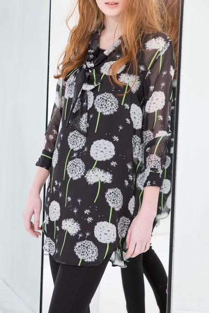 blouse dezzal floral style black
