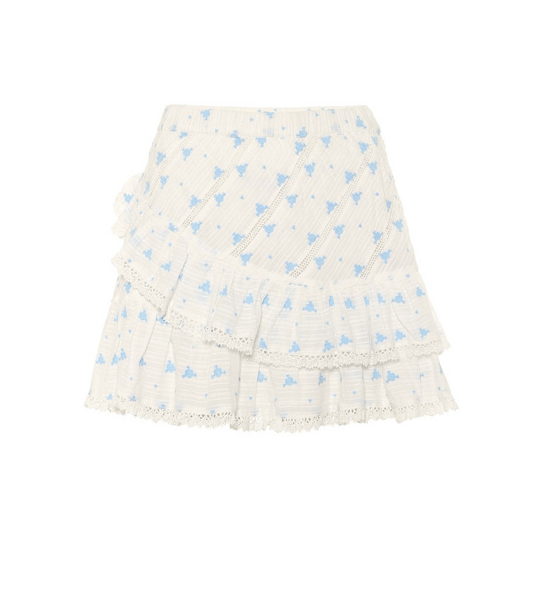LoveShackFancy Exclusive to Mytheresa – Emma floral cotton miniskirt in white