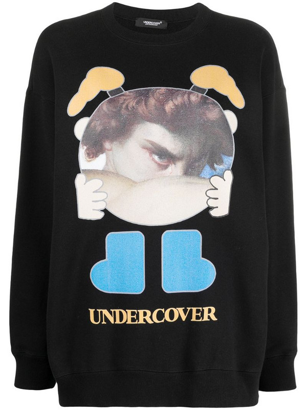 Undercover graphic-print sweatshirt in black