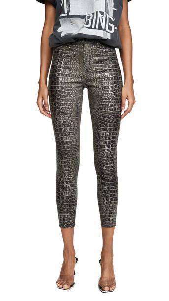 L'AGENCE Margot High Rise Skinny Jeans in black