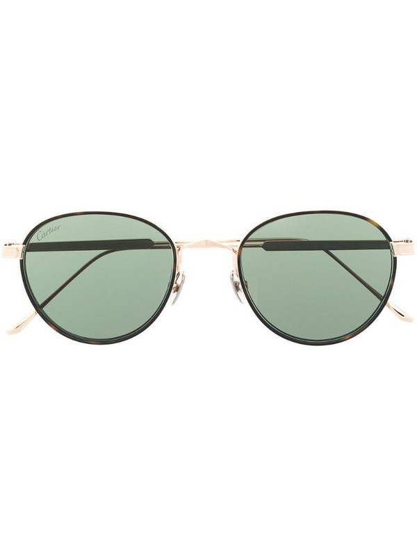Cartier Eyewear round-frame tinted sunglasses in gold