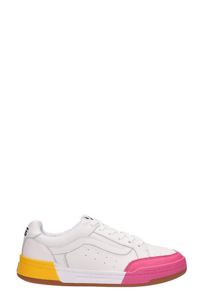 Vans White Leather Highland Sneakers