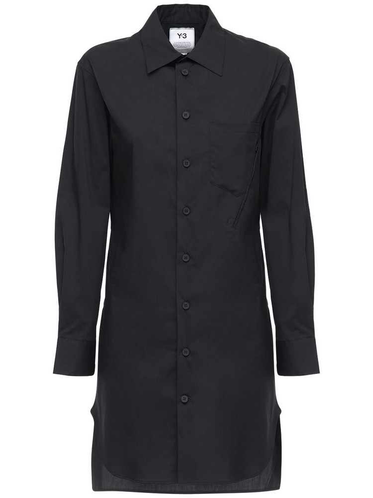 Y-3 Classic Cotton Blend Shirt in black