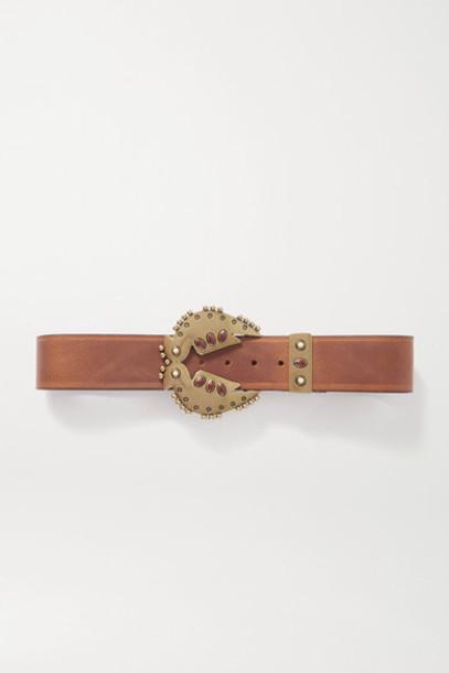 Isabel Marant - Abigail Embellished Leather Belt - Brown