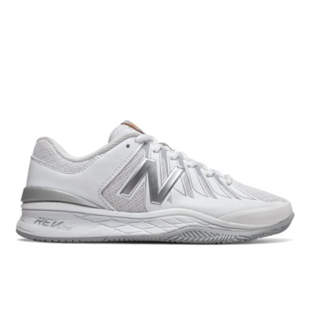 New Balance 1006 Women's Tennis Shoes - White/Silver (WC1006WS)