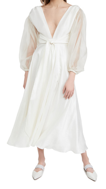 Azeeza Cirrus Dress in white