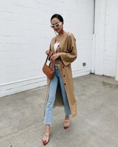 dress,leather dress,midi dress,belted dress,sandals,cropped jeans,brown bag,white top
