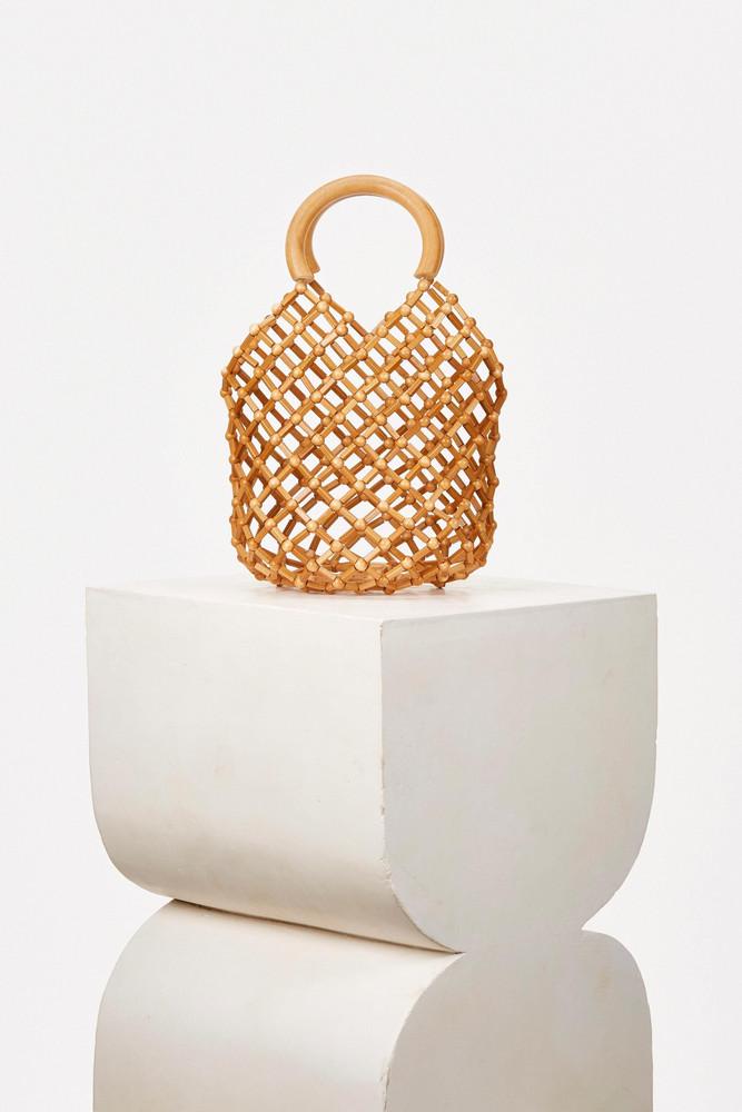 Cult Gaia Emmie Net Bag - Natural                                                                                               $158.00 USD