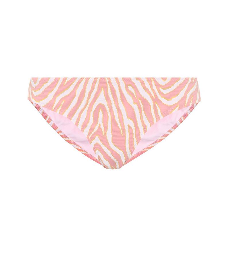 Heidi Klein Cape Town zebra-print bikini bottoms in pink