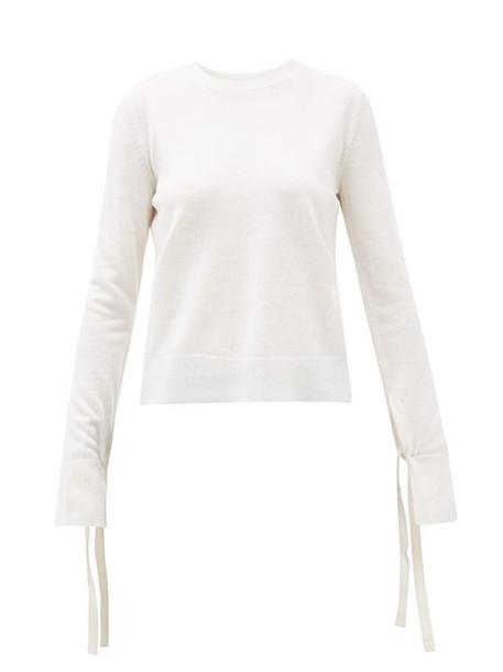 Chloé Chloé - Slit-cuff Wool-blend Sweater - Womens - Ivory