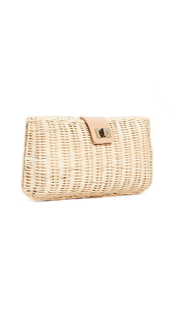 Kayu Kaine Clutch in natural
