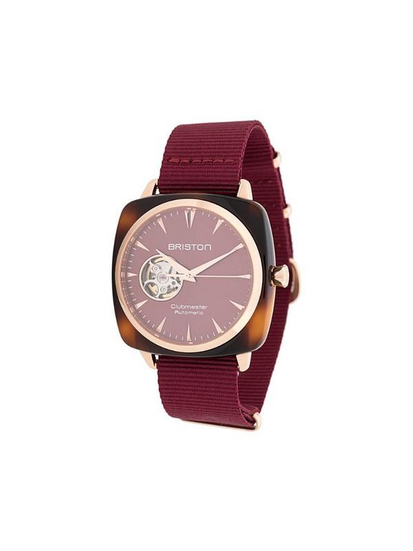 Briston Watches Clubmaster watch in red