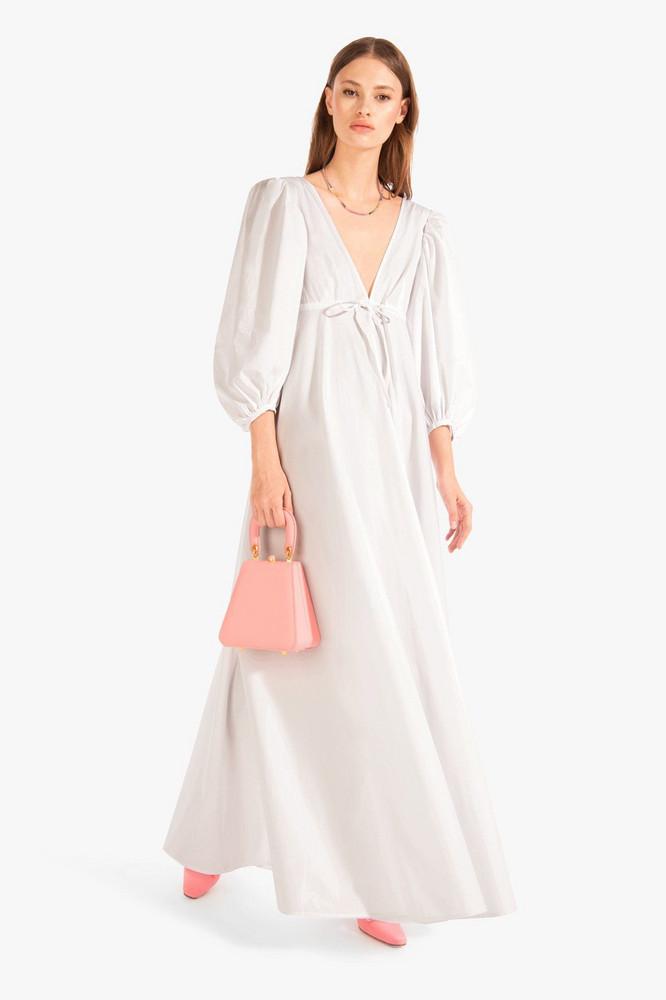 Staud AMARETTI DRESS | WHITE