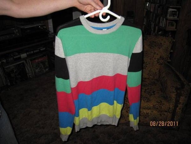sweater stripy sweater mac miller