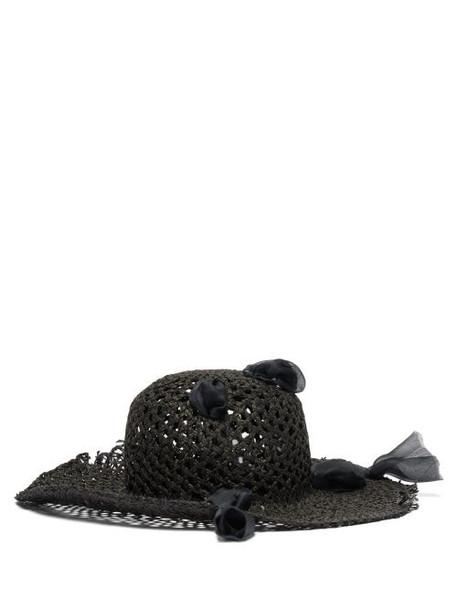 Reinhard Plank Hats - Dohan Woven Paper Hat - Womens - Black