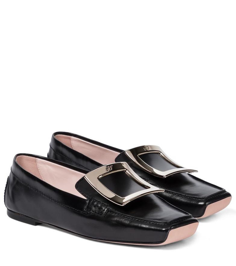 Roger Vivier Viv' Driver leather loafers in black